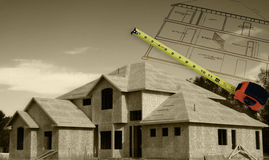 Home Construction Duotone Royalty Free Stock Photography