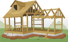 Home construction framing structure Royalty Free Stock Image