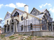 Home Construction-Home being Constructed. Home Construction- Home under Construction.New Building Royalty Free Stock Photos
