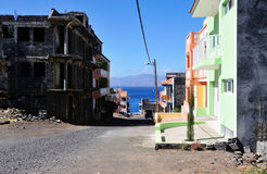 Home construction on the island Stock Photos