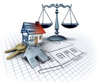 Home Construction Law vector illustration