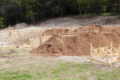 Home Construction - Post tensioned foundation Royalty Free Stock Images