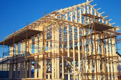 Home Construction Site Royalty Free Stock Photography
