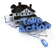 Home construction, take action Royalty Free Stock Image
