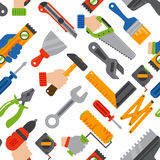 Home construction tools seamless pattern vector. Stock Image
