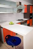 Home cookery furniture. Magnificent modern furniture of a home cookery stock images