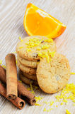 Home cookies with orange Royalty Free Stock Images