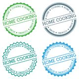 Home cooking badge isolated on white background. Flat style round label with text. Circular emblem vector illustration Royalty Free Stock Photos