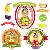 Home Cooking Logos Royalty Free Stock Images