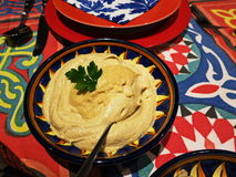 Home cooking. Oriental Starters. Hummus Royalty Free Stock Photo