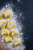 Home cooking, preparation of ravioli pasta Stock Images
