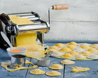 Home cooking ravioli Stock Photo