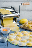 Home cooking ravioli Royalty Free Stock Photography