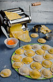 Home cooking ravioli Stock Photography