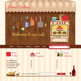 Home Cooking web template Royalty Free Stock Photos