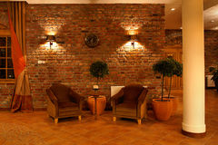 Home corner. Hotel place to rest in a pleasant atmosphere Stock Image