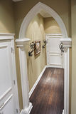 Home corridor with decorative metal details. Classic home corridor with decorative metal details Royalty Free Stock Photo