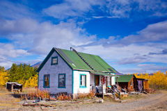 Home / Cottage in Carcross, Yukon. Stock Photo