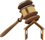 Home court house auction Royalty Free Stock Image