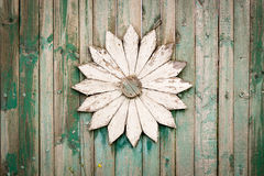 Home Crafted and Decorated White Flower Royalty Free Stock Images