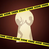 Home of crime Stock Image