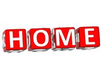 Home Cube text Stock Photos