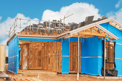 Home currently under construction Royalty Free Stock Photo
