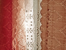 Home curtains colorful texture Royalty Free Stock Images
