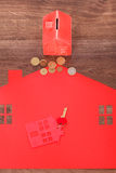 Home cutout with keys. Stock Images