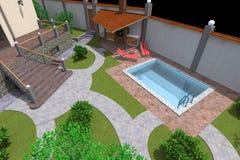 HOME 3d Foto de Stock