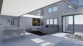 Home 3d design Royalty Free Stock Image