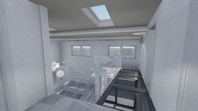 Home 3d design. 3d design of modern home appartment indoor Royalty Free Stock Image