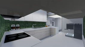 Home 3d design. 3d design of modern home appartment indoor Royalty Free Stock Photo