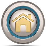 Home 3d icon isolated on white background. 3D illustration. Home 3d icon isolated on white background. 3D illustration vector illustration
