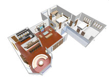 Home 3D Royalty Free Stock Photo