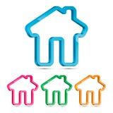Home 3D Symbol, Vector Illustration Stock Images