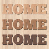 Home 3D wooden letter Royalty Free Stock Photo