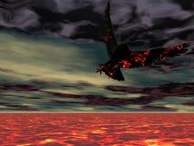 HOME da águia do incêndio Fotografia de Stock
