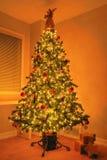 HOME da árvore do Xmas do Natal Foto de Stock Royalty Free
