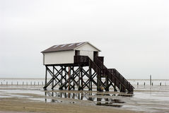 HOME da baixa maré Foto de Stock Royalty Free
