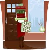 HOME da compra do feriado Imagens de Stock Royalty Free