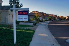 HOME da execução duma hipoteca Imagens de Stock Royalty Free