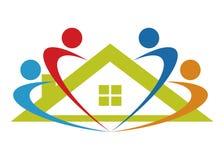 HOME da sustentação do cuidado ilustração royalty free
