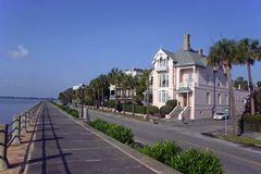 HOME de Charleston pelo porto Foto de Stock