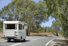 HOME de Mobil em uma estrada Fotografia de Stock Royalty Free