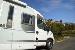 HOME de Mobil na estrada em France Imagens de Stock