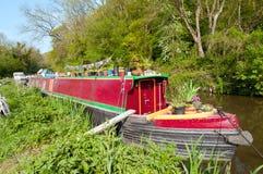 HOME de Narrowboat Imagens de Stock Royalty Free