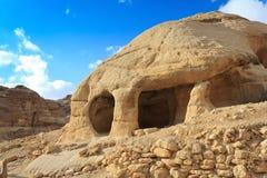 HOME de pedra da caverna em Bab como-Siq, PETRA Imagem de Stock Royalty Free