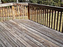 Home Decking. Deck on the front of a home Stock Photography