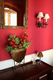Home Decor. This colorful and well-arranged foyer welcomes one into the home Stock Photography